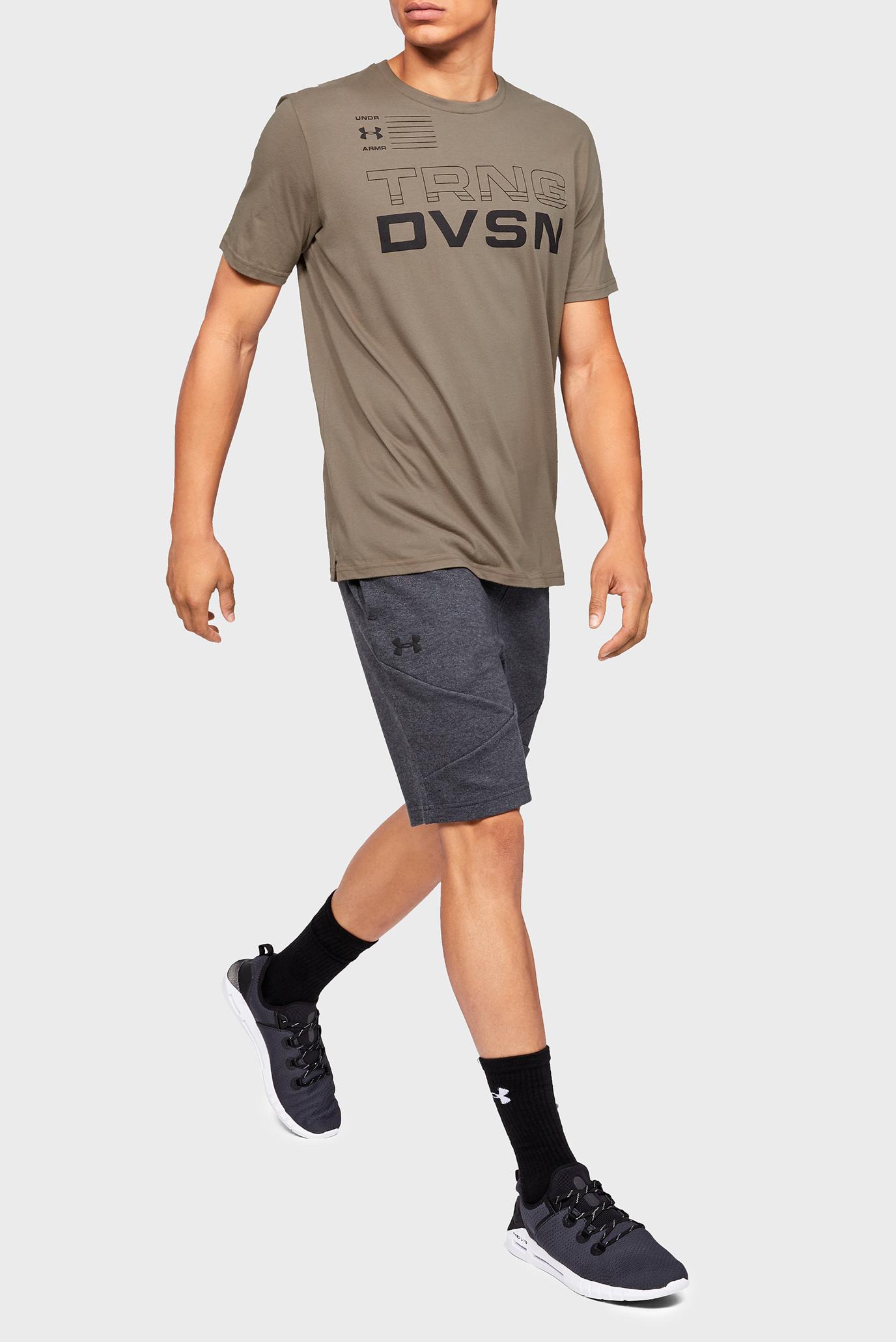 Мужская коричневая футболка UA TRNG DVSN SS Under Armour