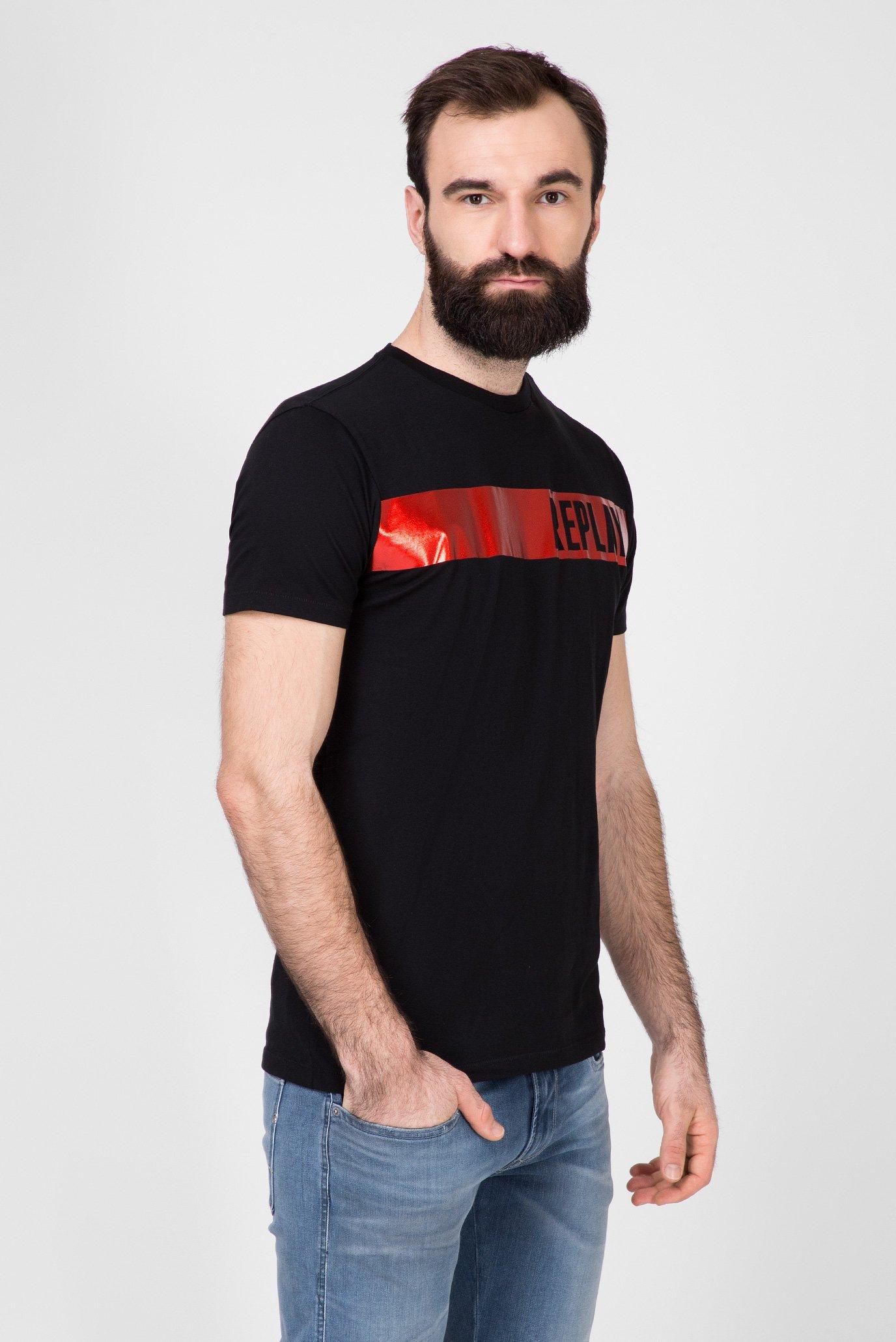 Мужская черная футболка Replay