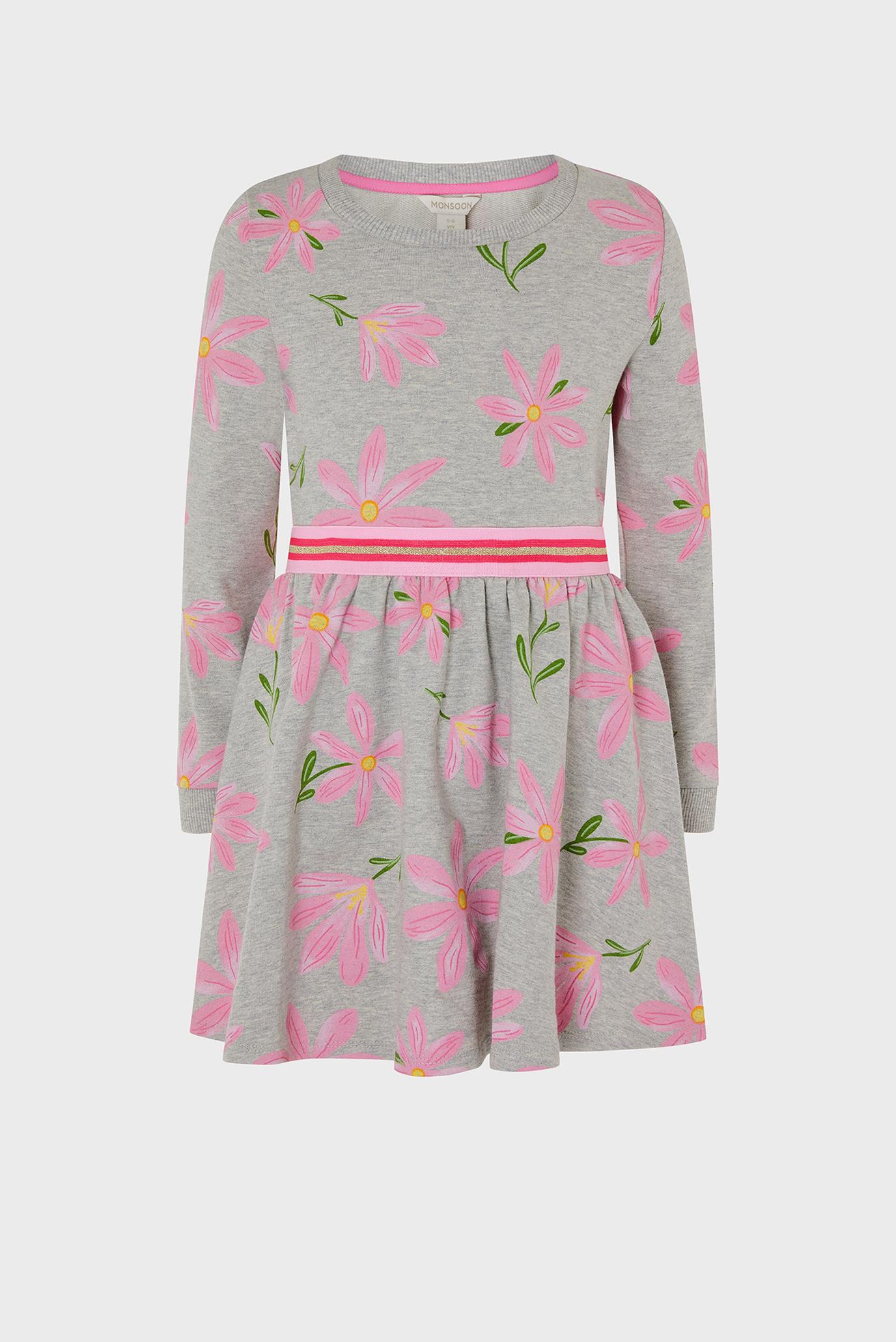 Детский серый комплект одежды (свитшот, юбка) FLORAL SWEAT TOP AND 1