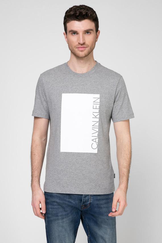Мужская серая футболка CUT OUT PRINT