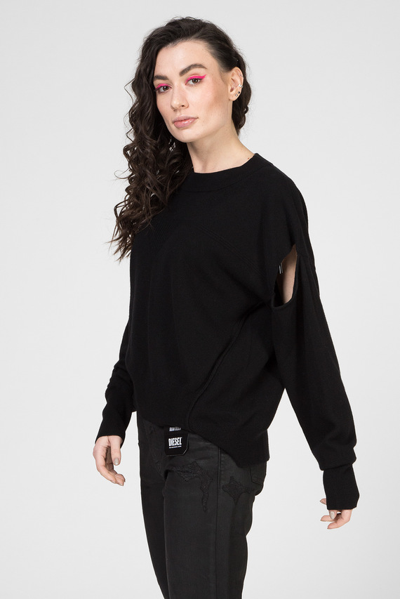 Женский черный свитер M-CRISTAL