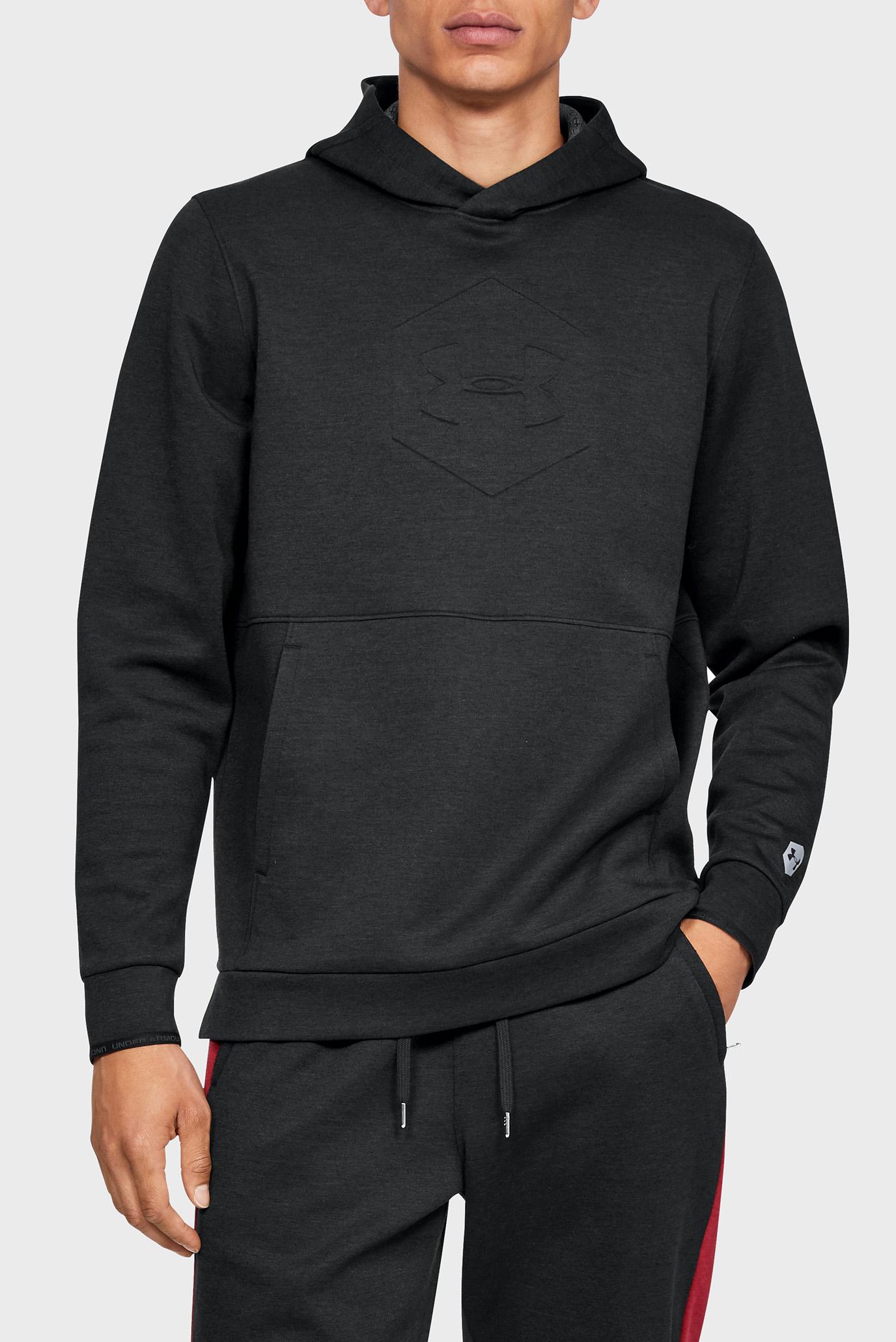Мужское черное худи Athlete Recovery Fleece Graphic Under Armour