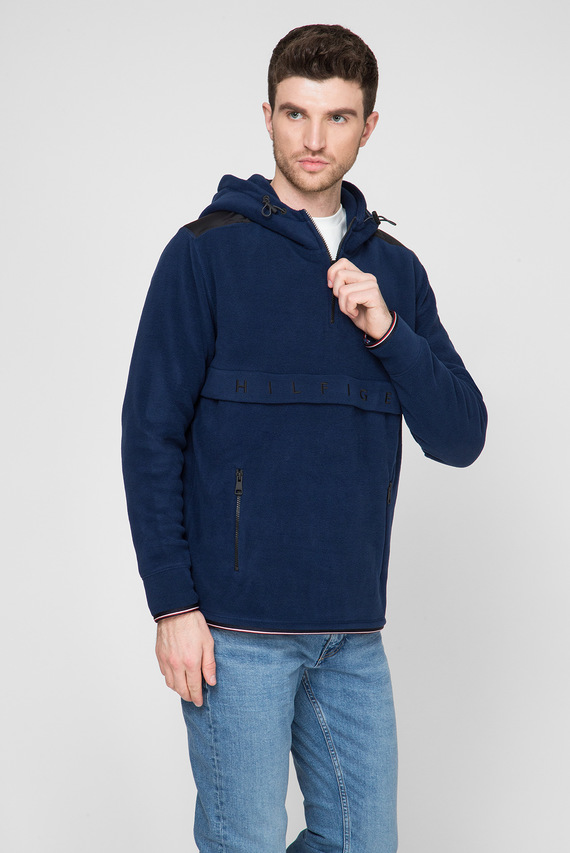 Мужское синее худи POLAR FLEECE