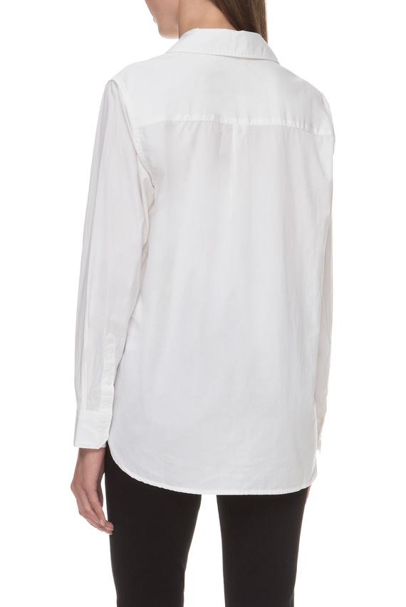 Женская белая рубашка Boyfriend Fit