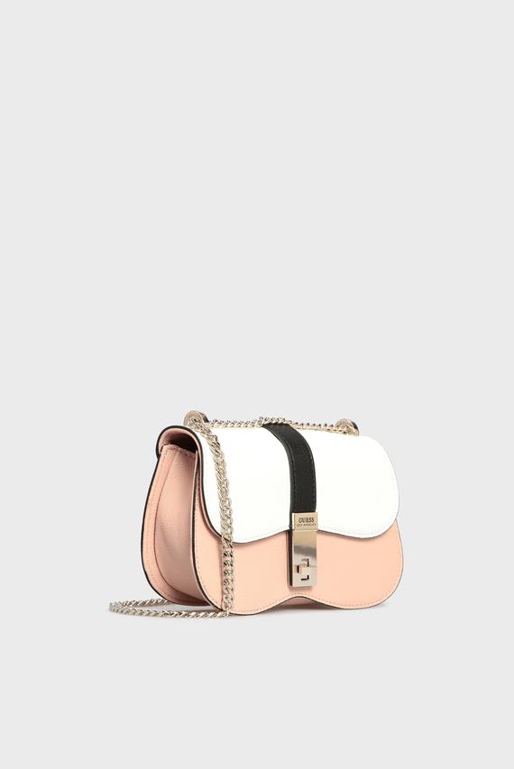 Женская розовая сумка через плечо