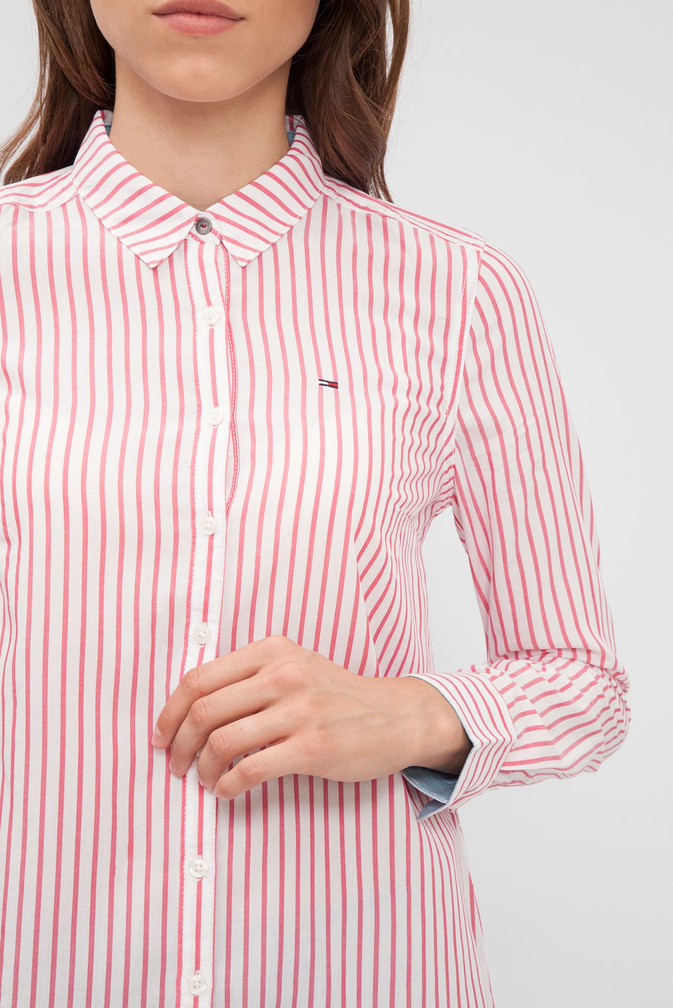 9f6be685cee Купить Женская розовая рубашка в полоску Tommy Hilfiger Tommy Hilfiger  DW0DW02279 – Киев