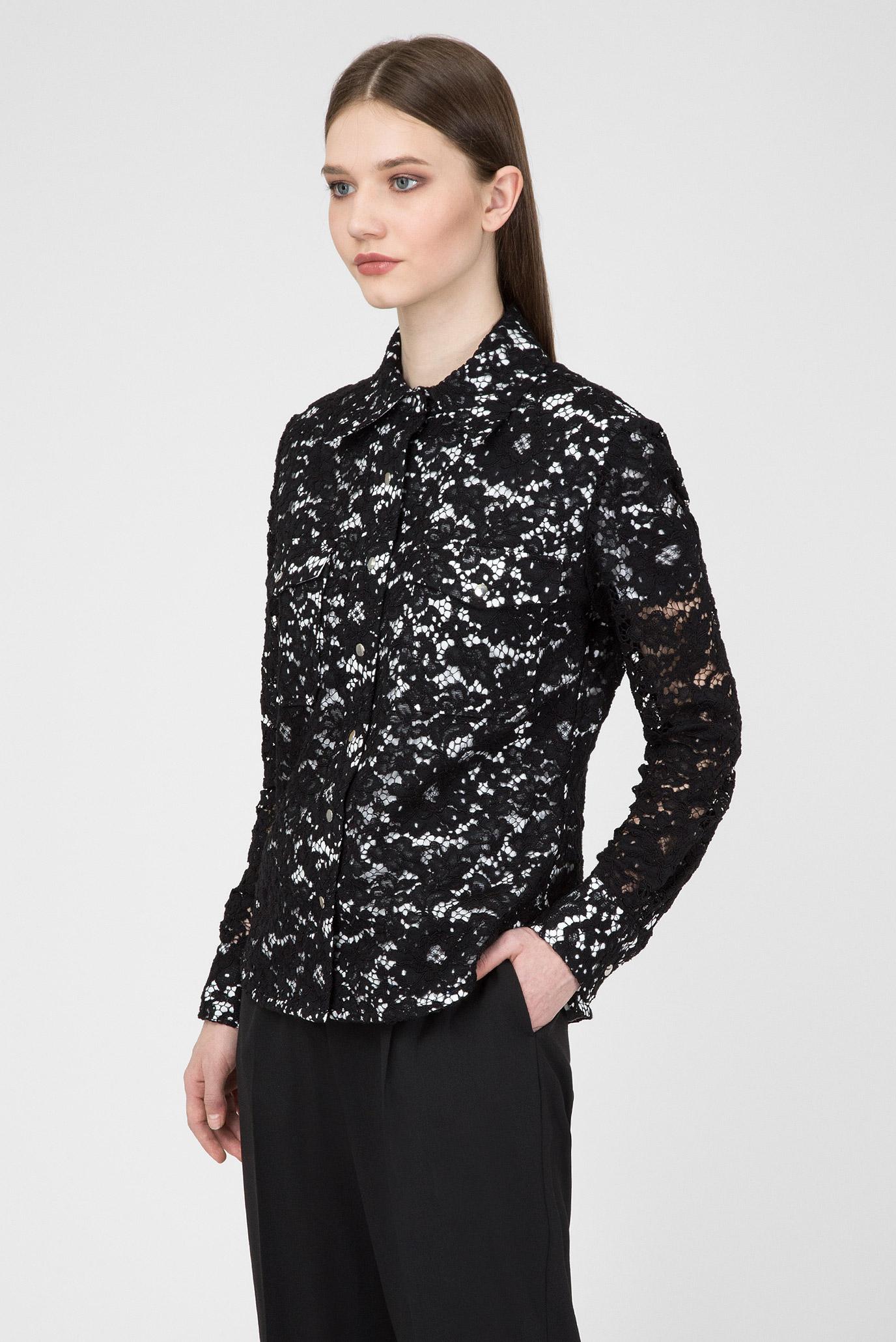Купить Женская черная рубашка с кружевом Calvin Klein Calvin Klein K20K200519 – Киев, Украина. Цены в интернет магазине MD Fashion