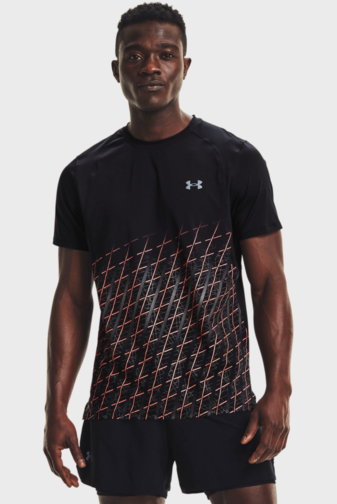 Мужская черная футболка UA IsoChill Run Nov SS 1