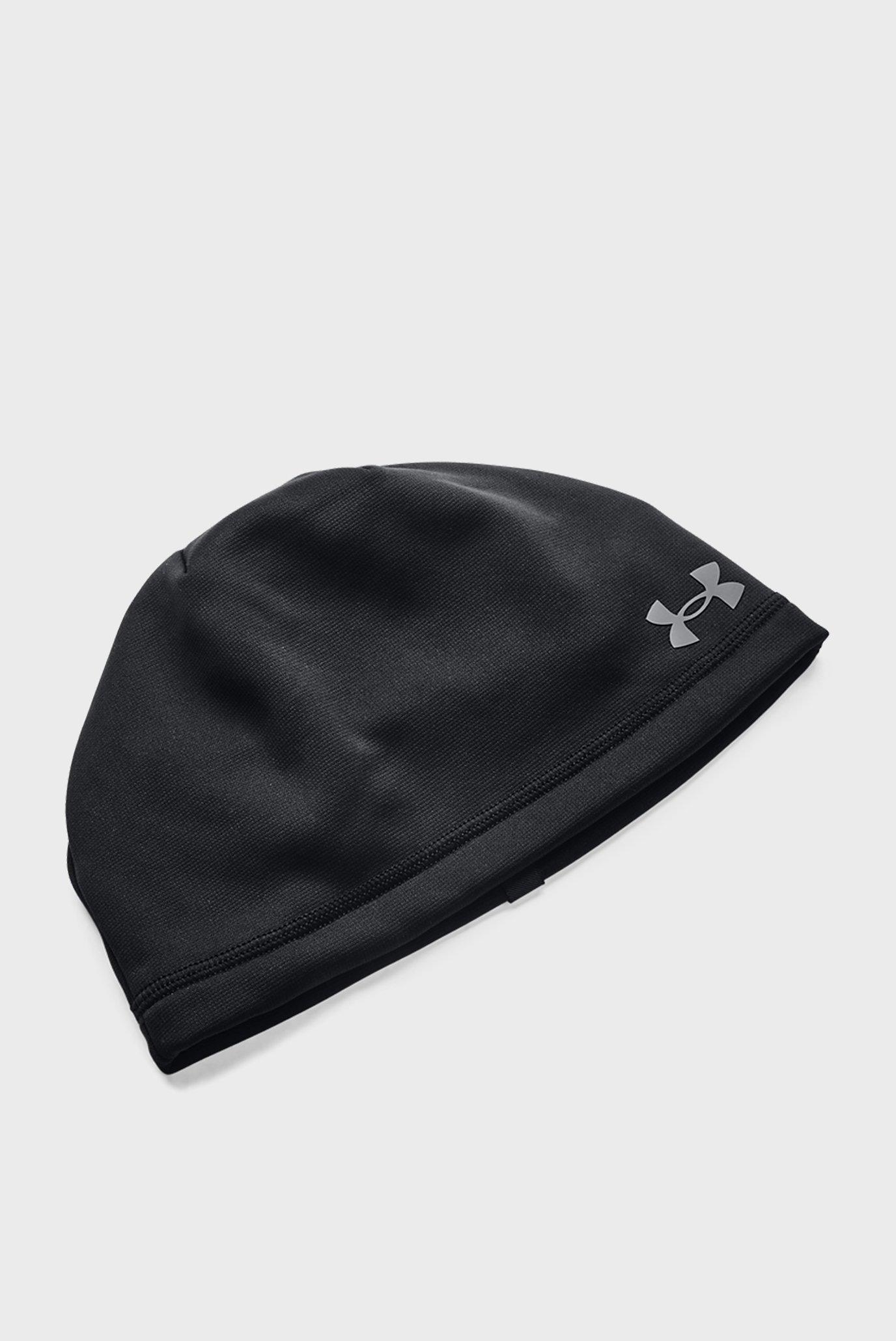 Мужская черная шапка UA Storm Beanie 1