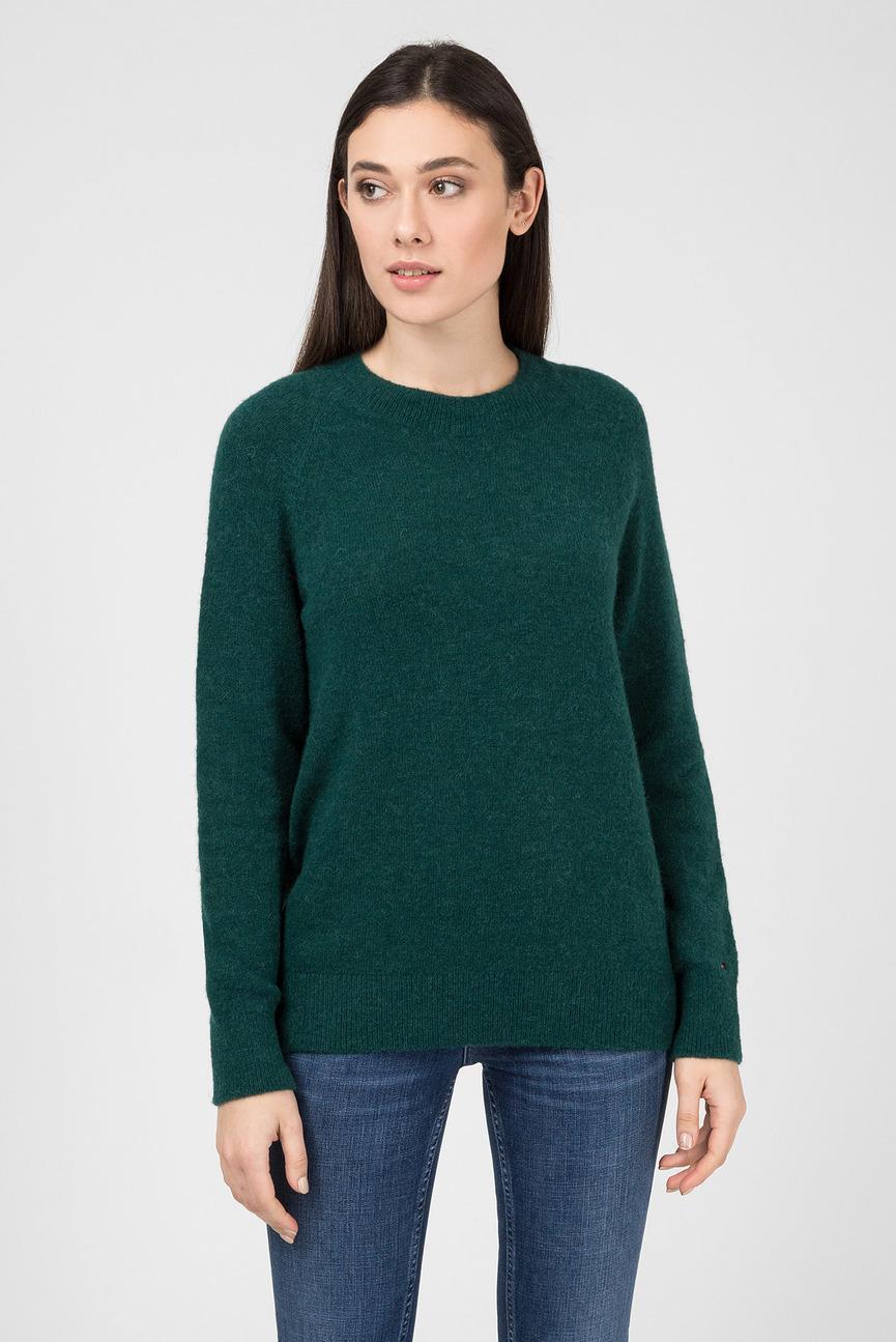 Женский зеленый джемпер