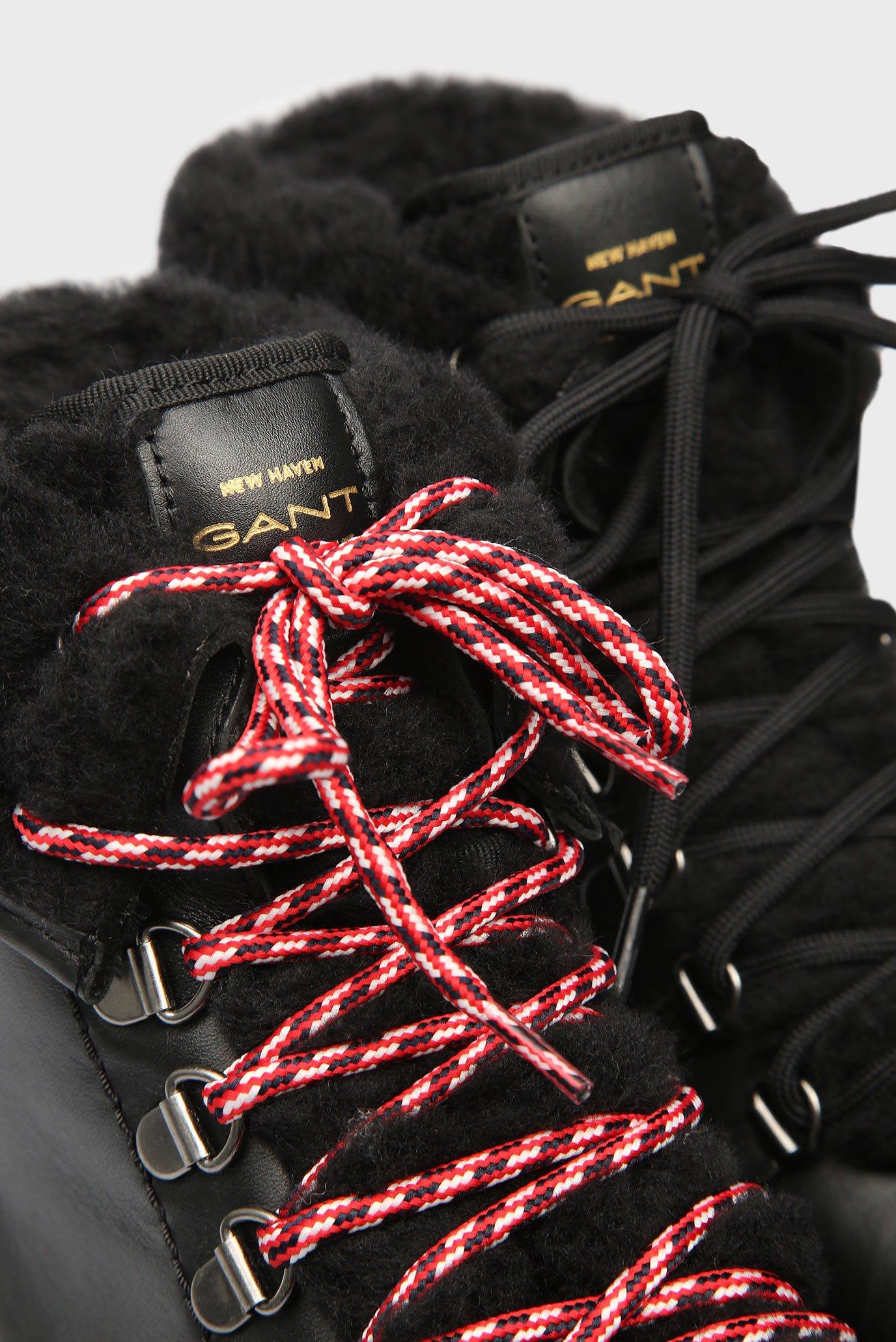 Купить Женские черные кожаные ботинки MARIA Gant Gant 17541825 – Киев, Украина. Цены в интернет магазине MD Fashion