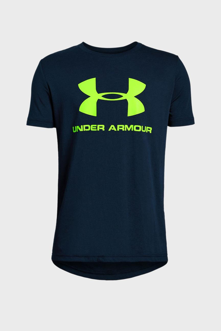 Детская синяя футболка Sportstyle Logo SS