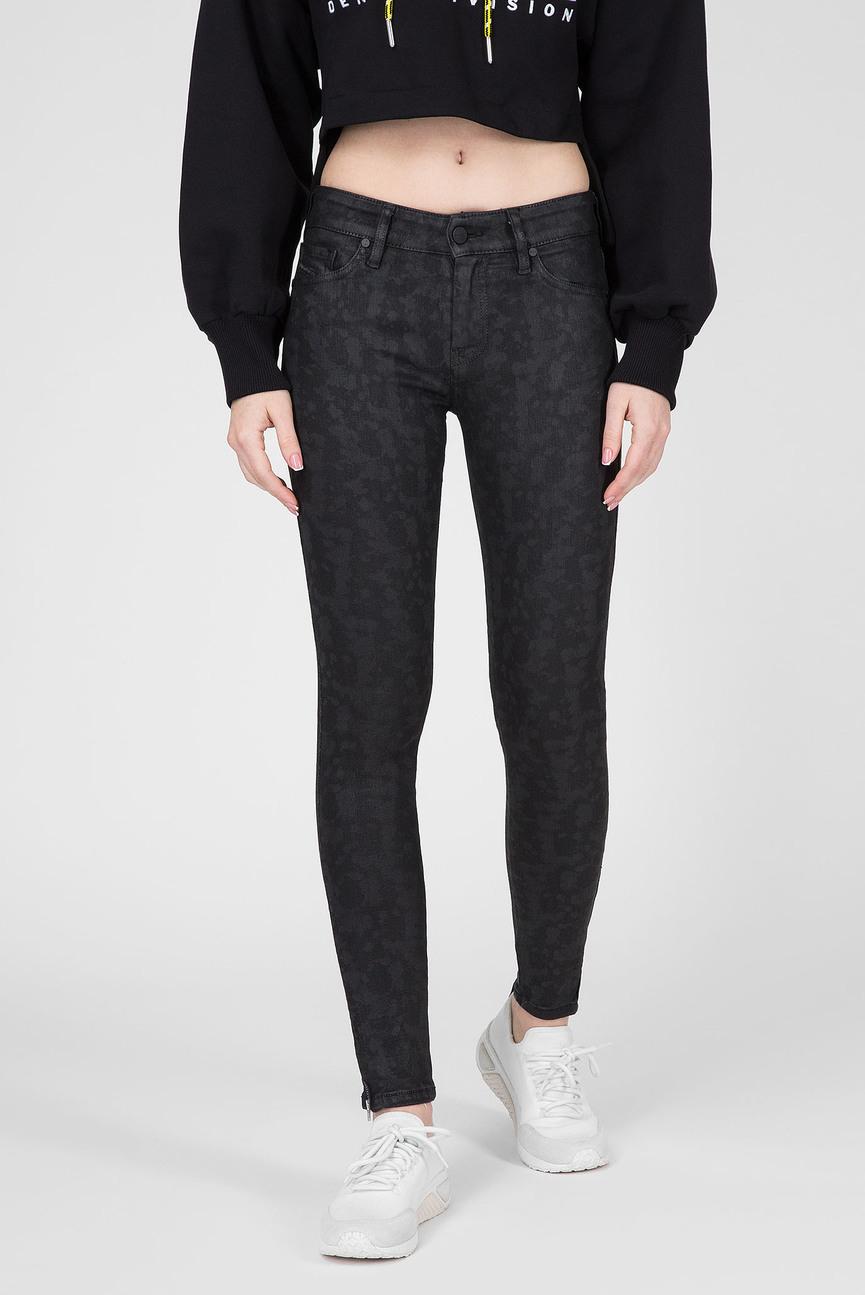 Женские черные джинсы SLANDY-ZIP