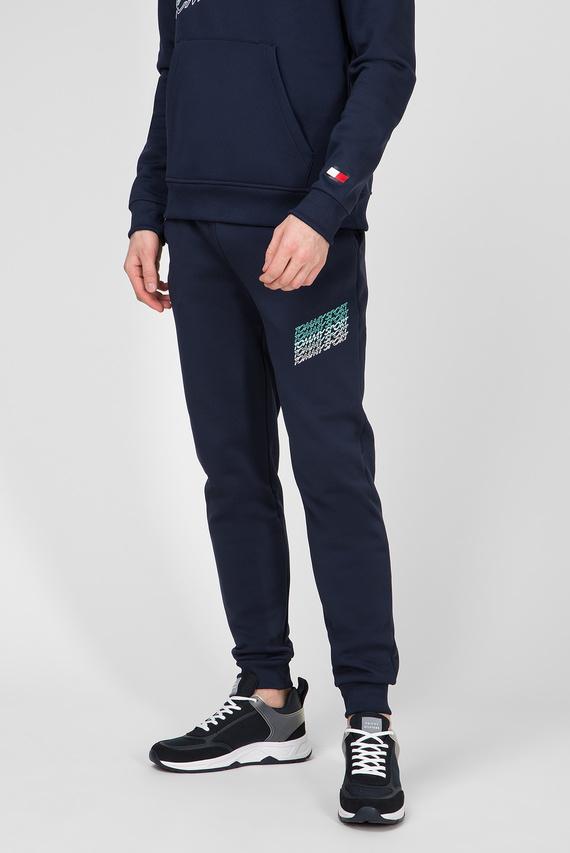 Мужские темно-синие спортивные брюки Fleece Graphics