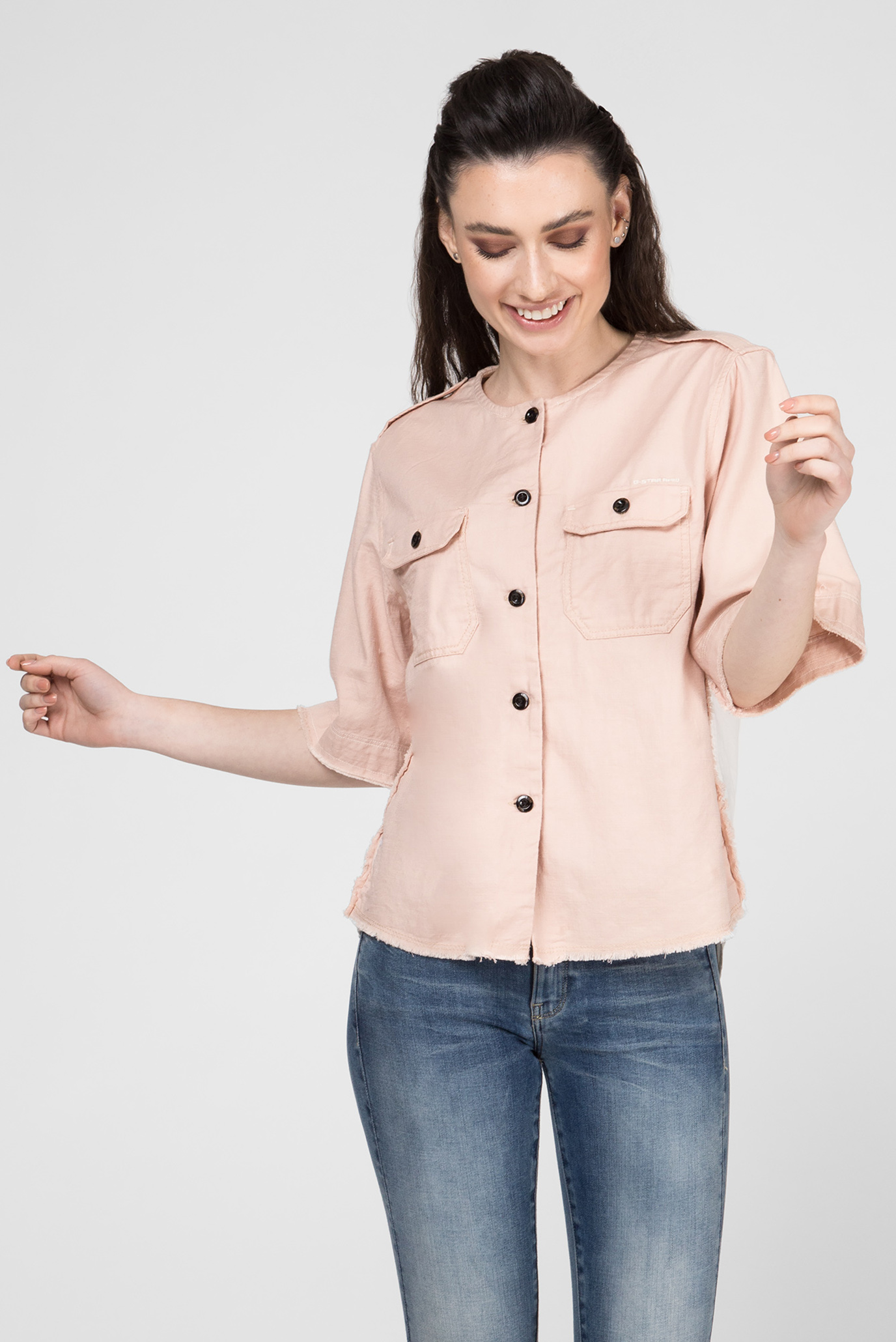 Женская пудровая рубашка Beryl G-Star RAW