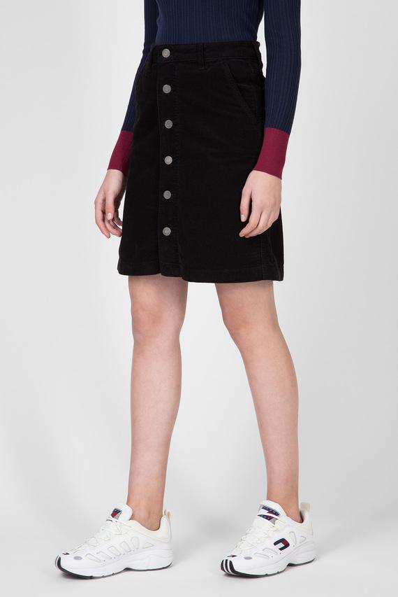 Женская черная вельветовая юбка TJW A LINE CORDUROY