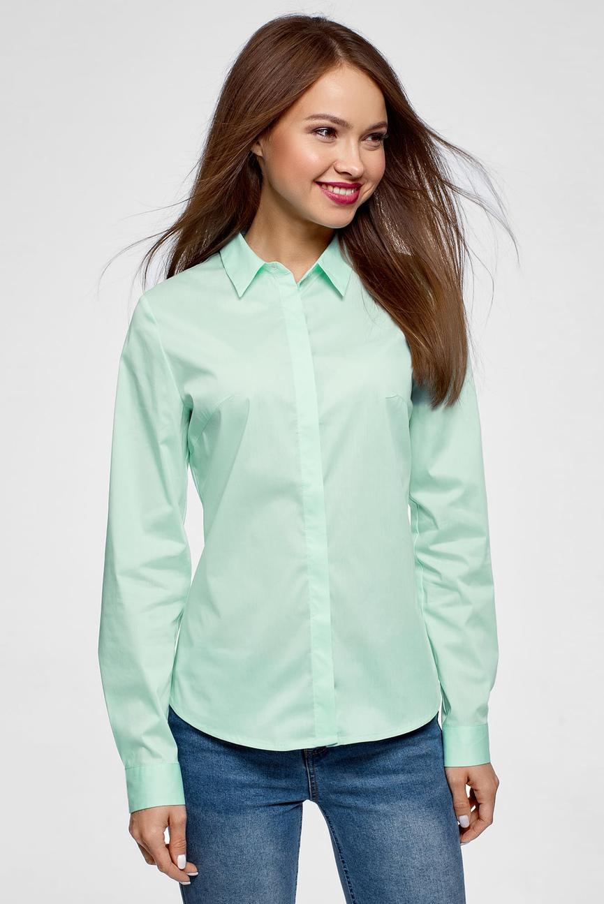 Женская бирюзовая рубашка