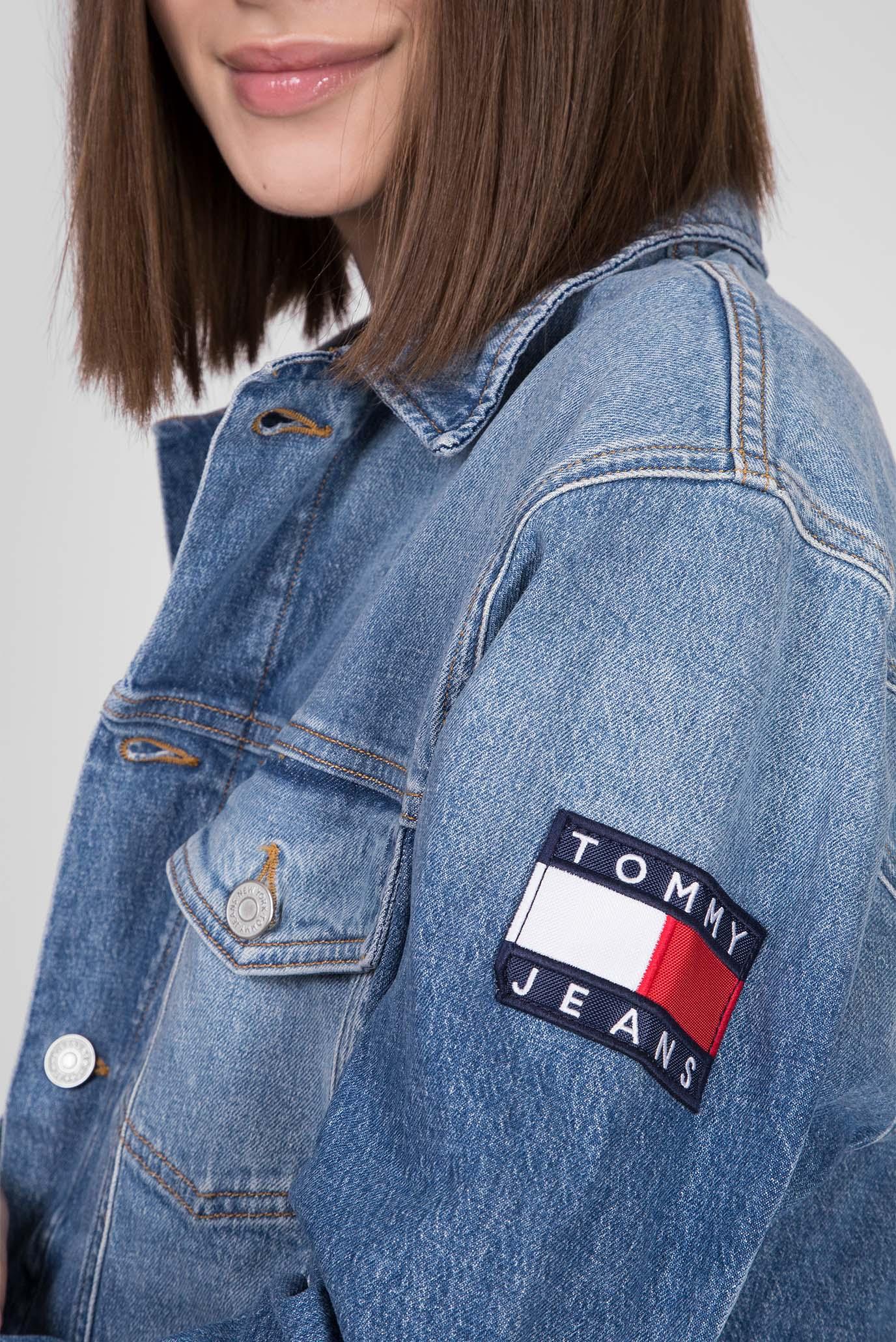 Женская синяя джинсовая куртка OVERSIZE TRUCKER JACKET ANMB Tommy Hilfiger
