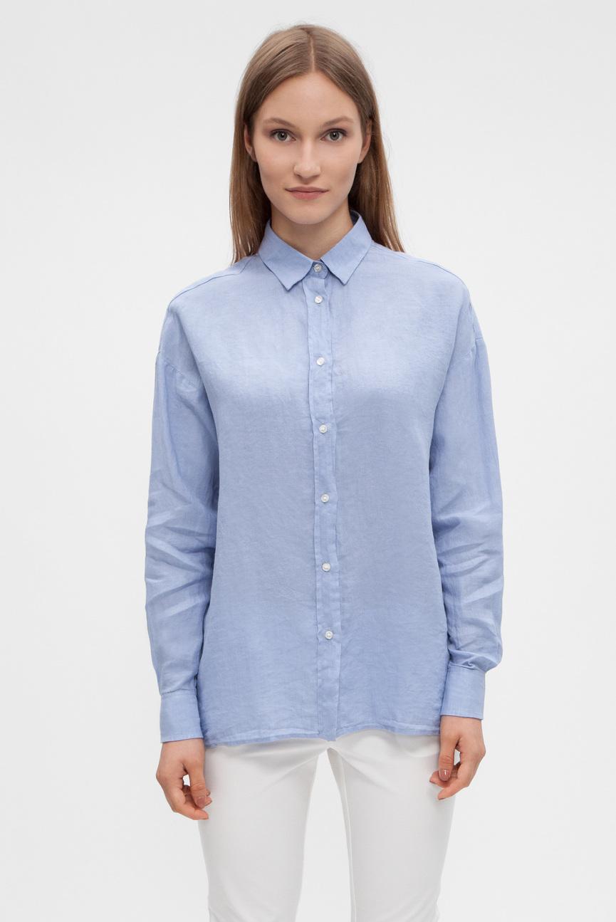Женская голубая рубашка