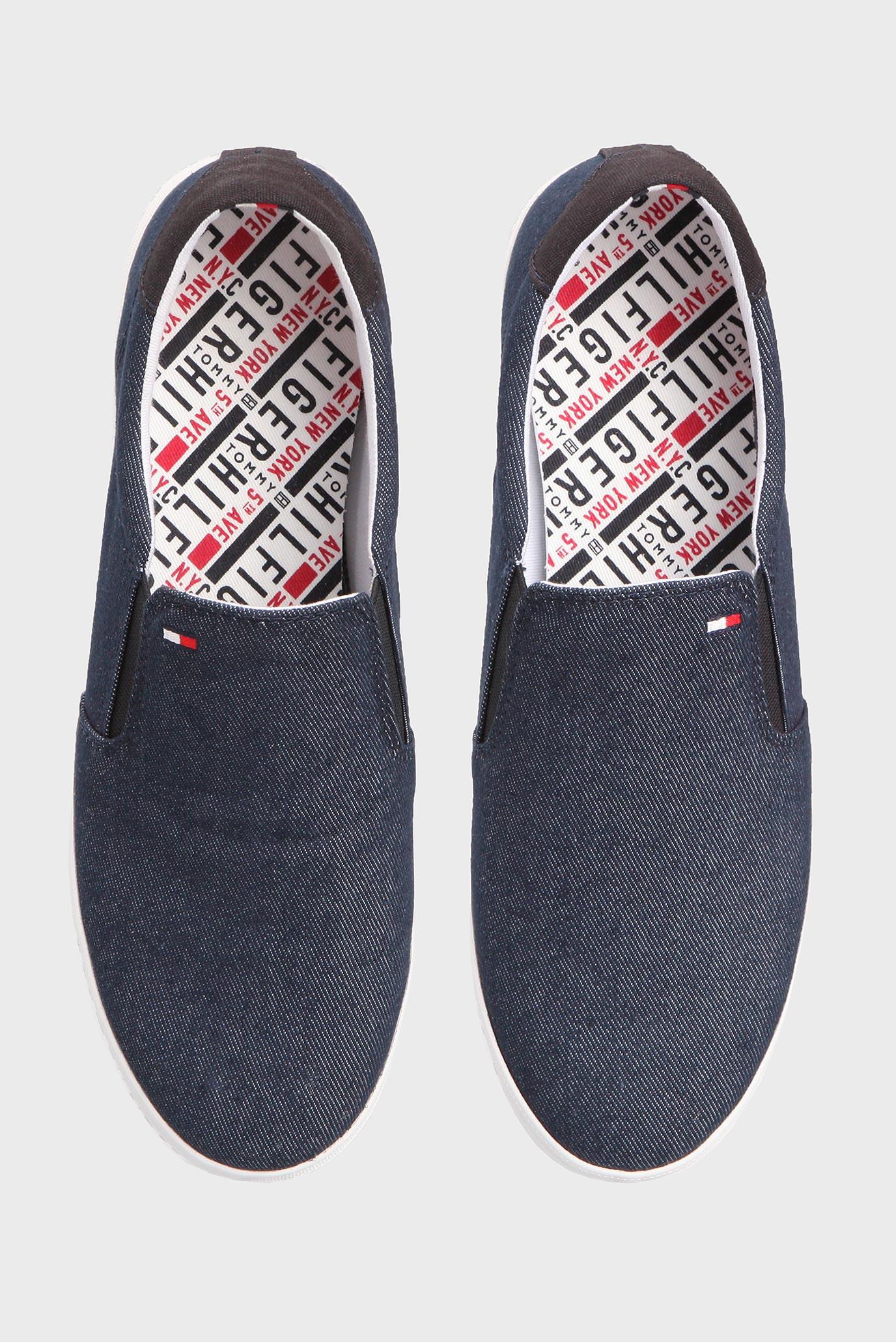 Купить Мужские синие джинсовые слипоны Tommy Hilfiger Tommy Hilfiger FM0FM00474 – Киев, Украина. Цены в интернет магазине MD Fashion