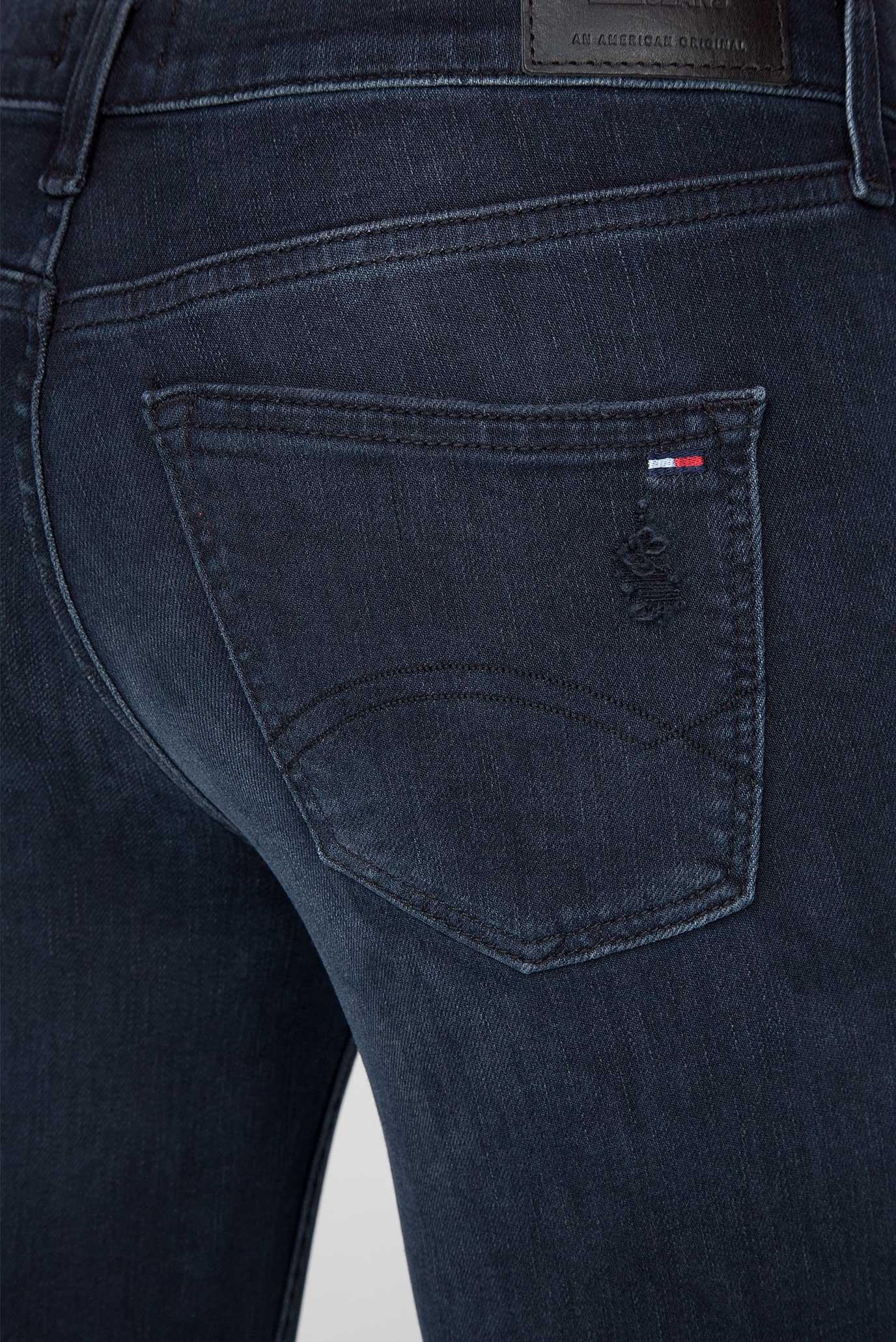 Женские темно-синие джинсы MID RISE SKINNY NORA 7/8 ZIP Tommy Hilfiger