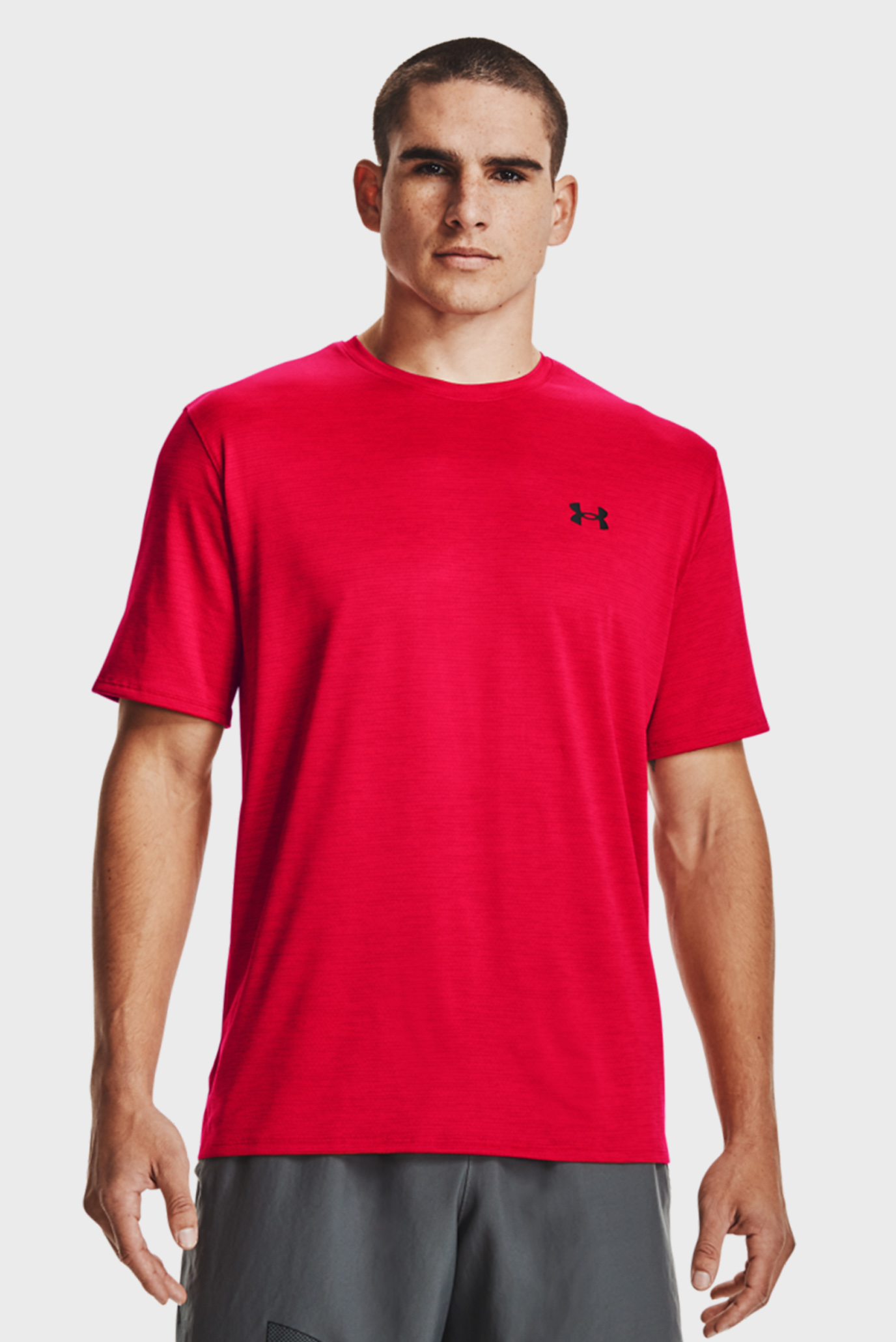 Чоловіча червона футболка UA Training Vent 2.0 SS 1