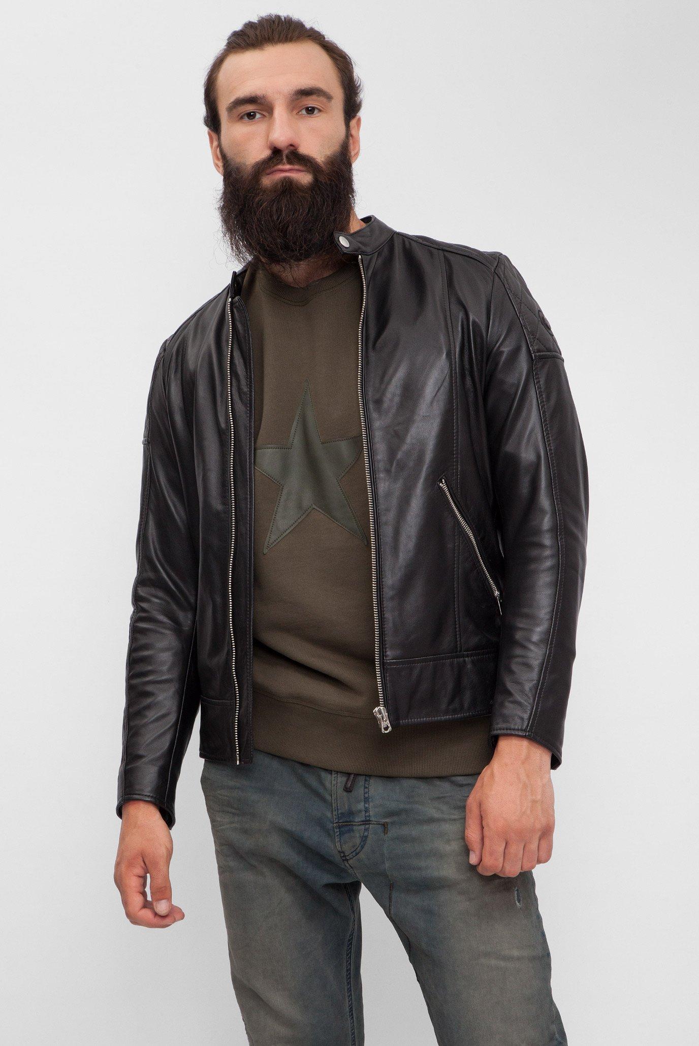 7aff7259d04 Купить Мужская черная кожаная куртка Diesel Diesel 00SRDZ 0WAGL – Киев