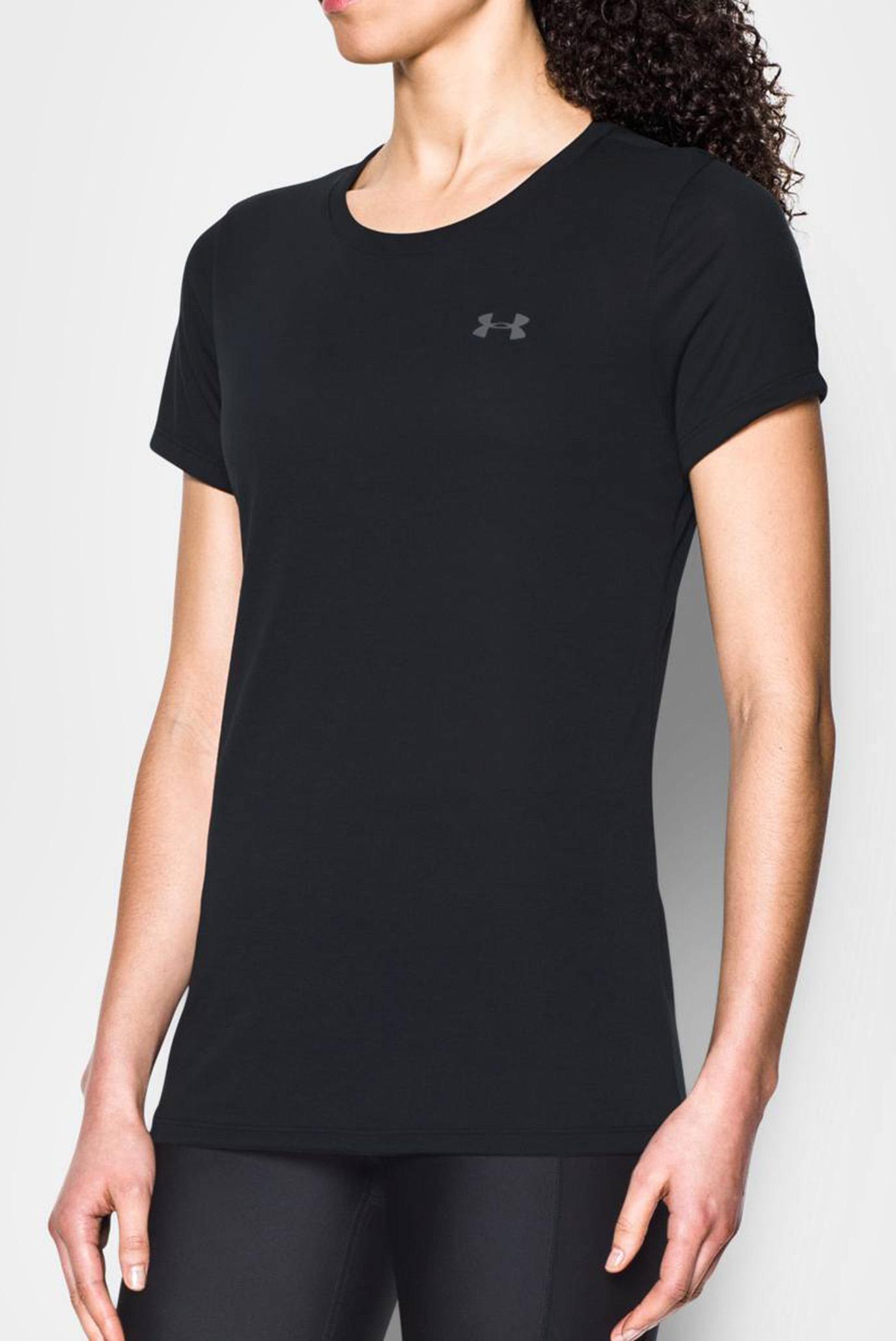 Купить Женская черная футболка Threadborne Train SSC Under Armour Under Armour 1290181-001 – Киев, Украина. Цены в интернет магазине MD Fashion