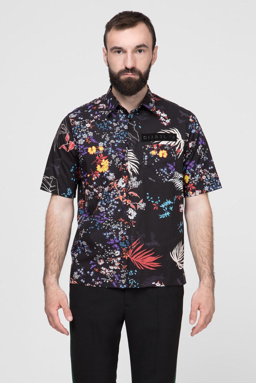Мужская черная рубашка S-FRY-FLOW