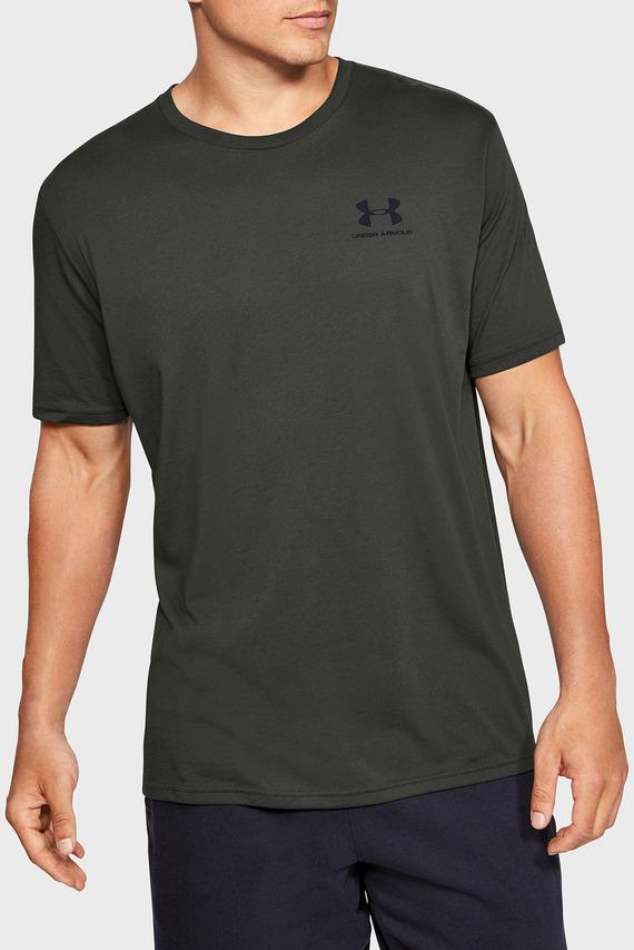 Мужская оливковая футболка SPORTSTYLE LEFT CHEST SS-GRN