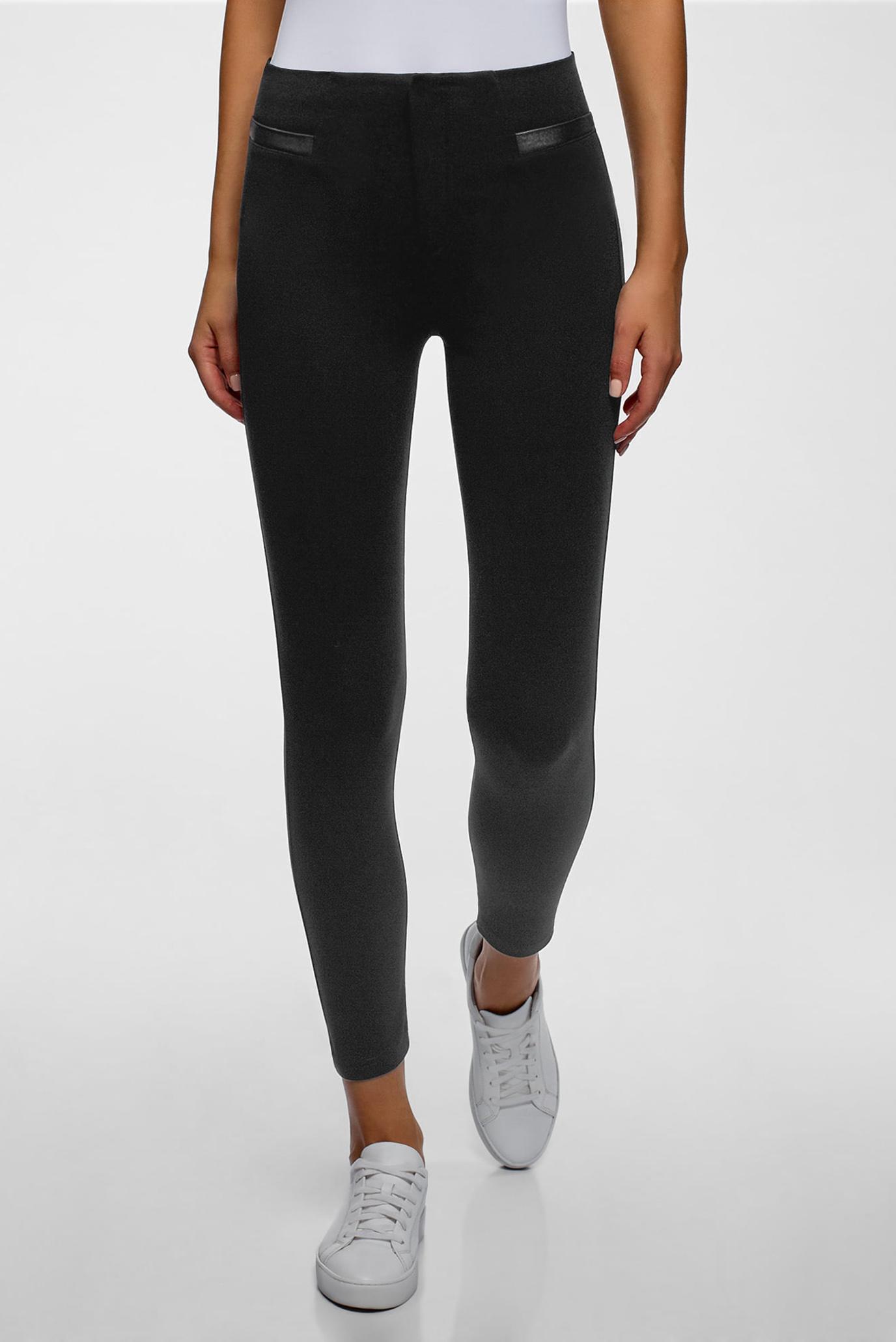 Жіночі чорні укорочені брюки 1