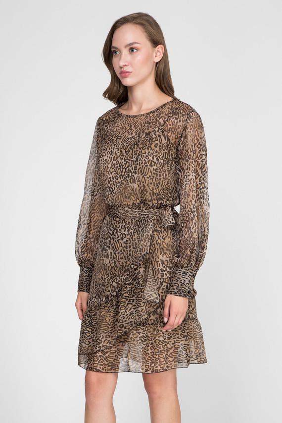 Женское бежевое платье GEORGETTE ANIMALIER PRINT