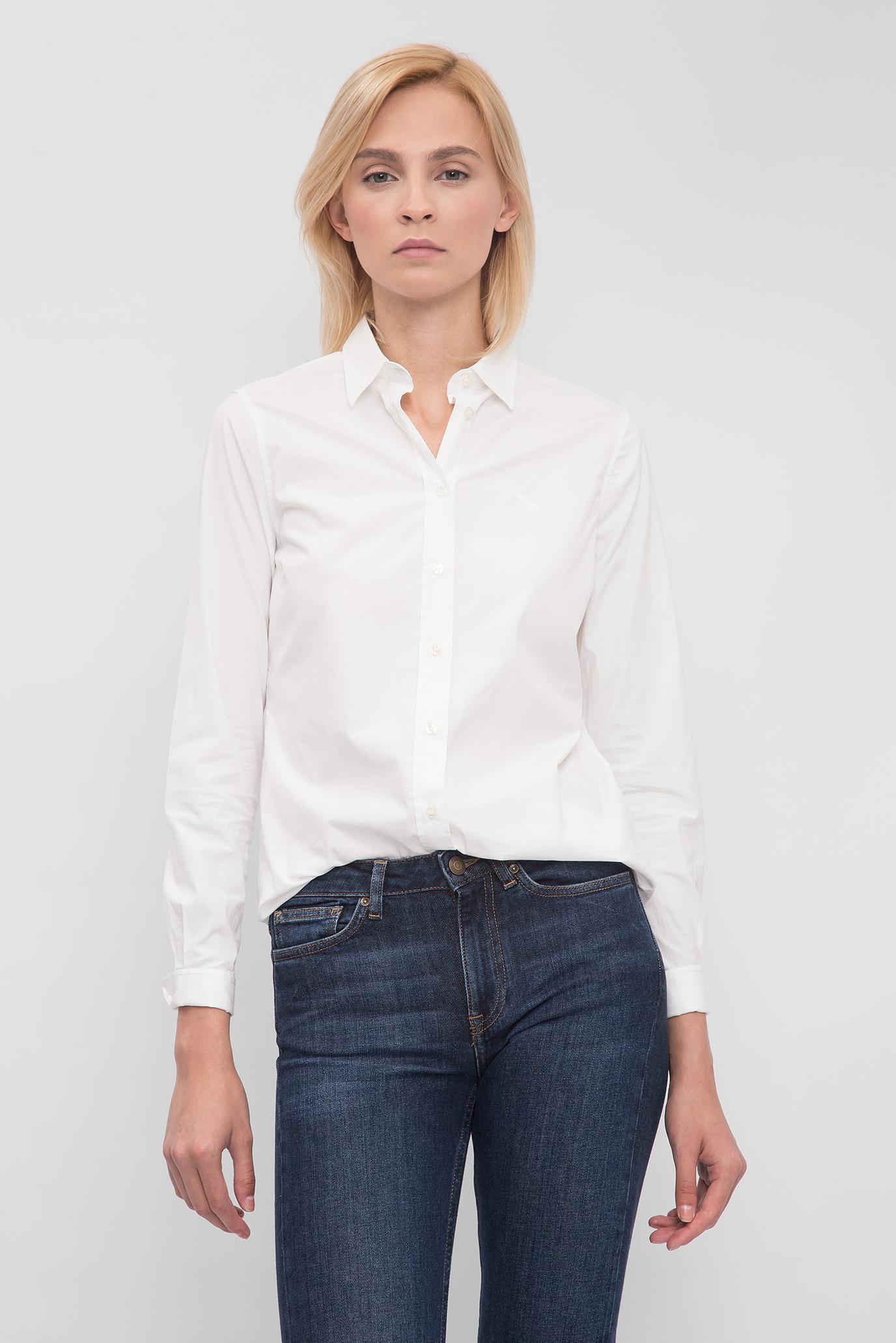 217d9fc4f55 Купить Женская белая рубашка Gant Gant 432687 – Киев