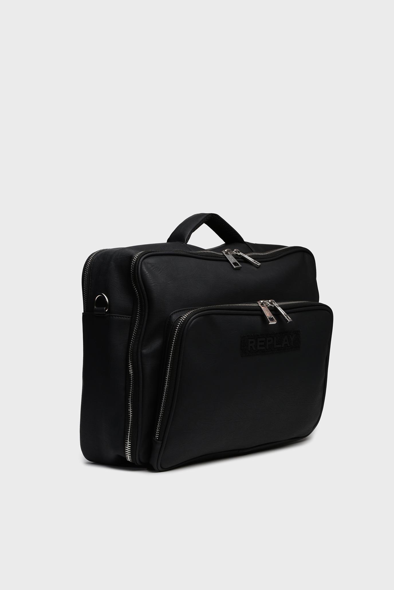 Мужская черная дорожная сумка Replay
