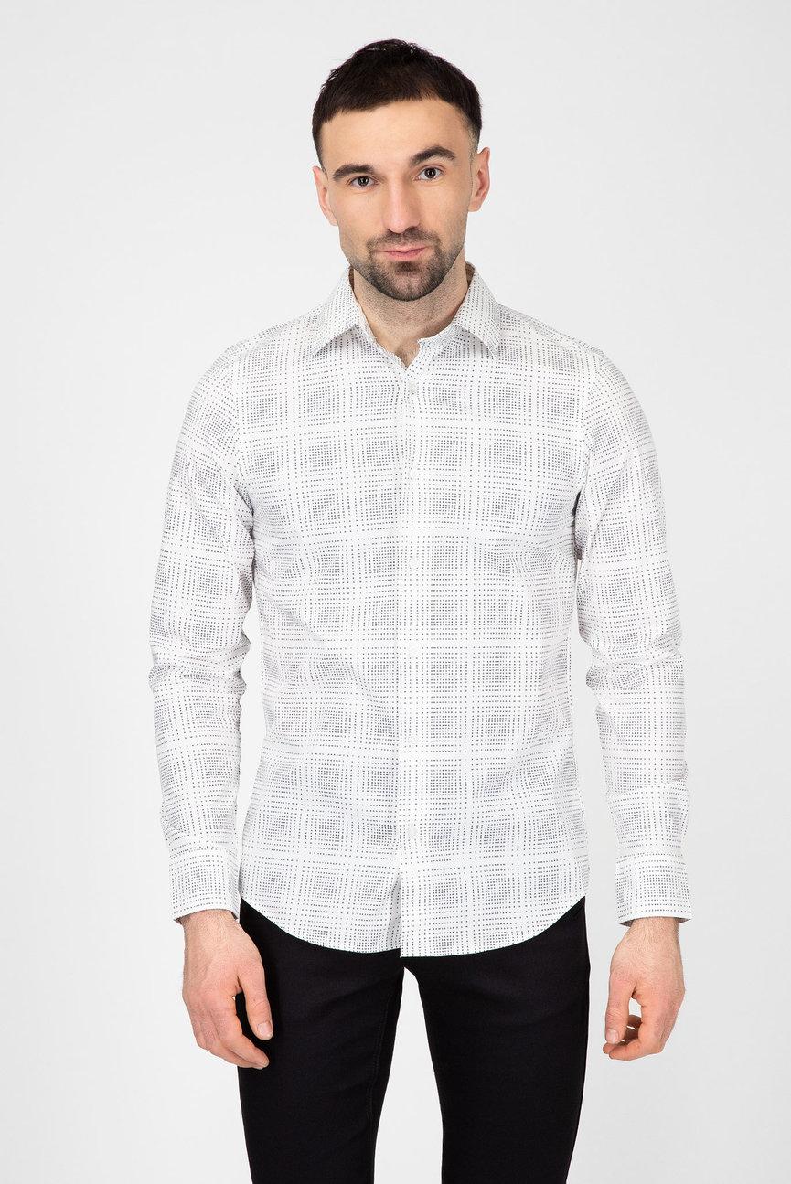 Мужская белая рубашка Core super slim shirt l\s