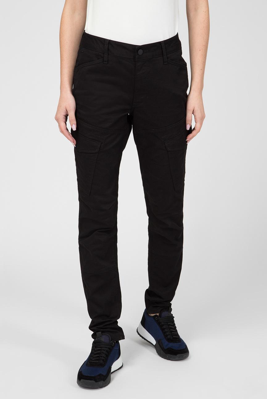 Женские черные брюки Rovic Mid Skinny