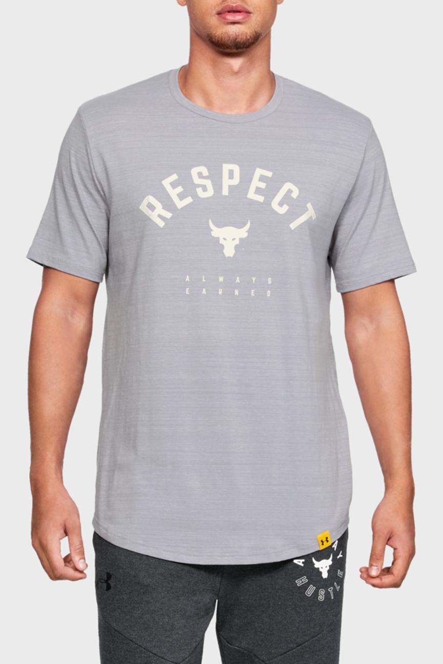 Мужская серая футболка PROJECT ROCK RESPECT TEE