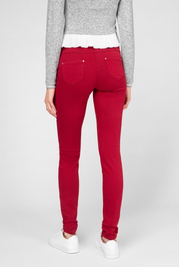Женские бордовые брюки Skinny