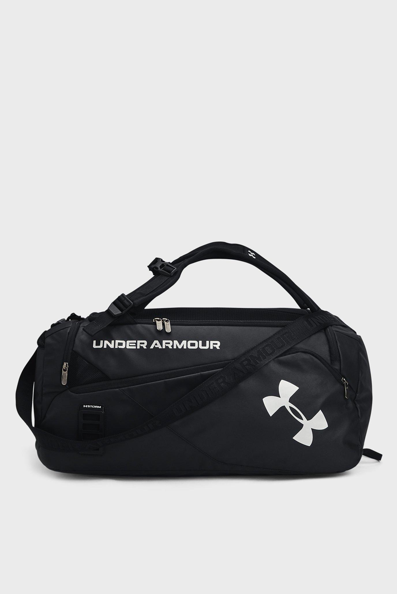 Чорна спортивна сумка UA Contain Duo MD Duffle-BLK 1