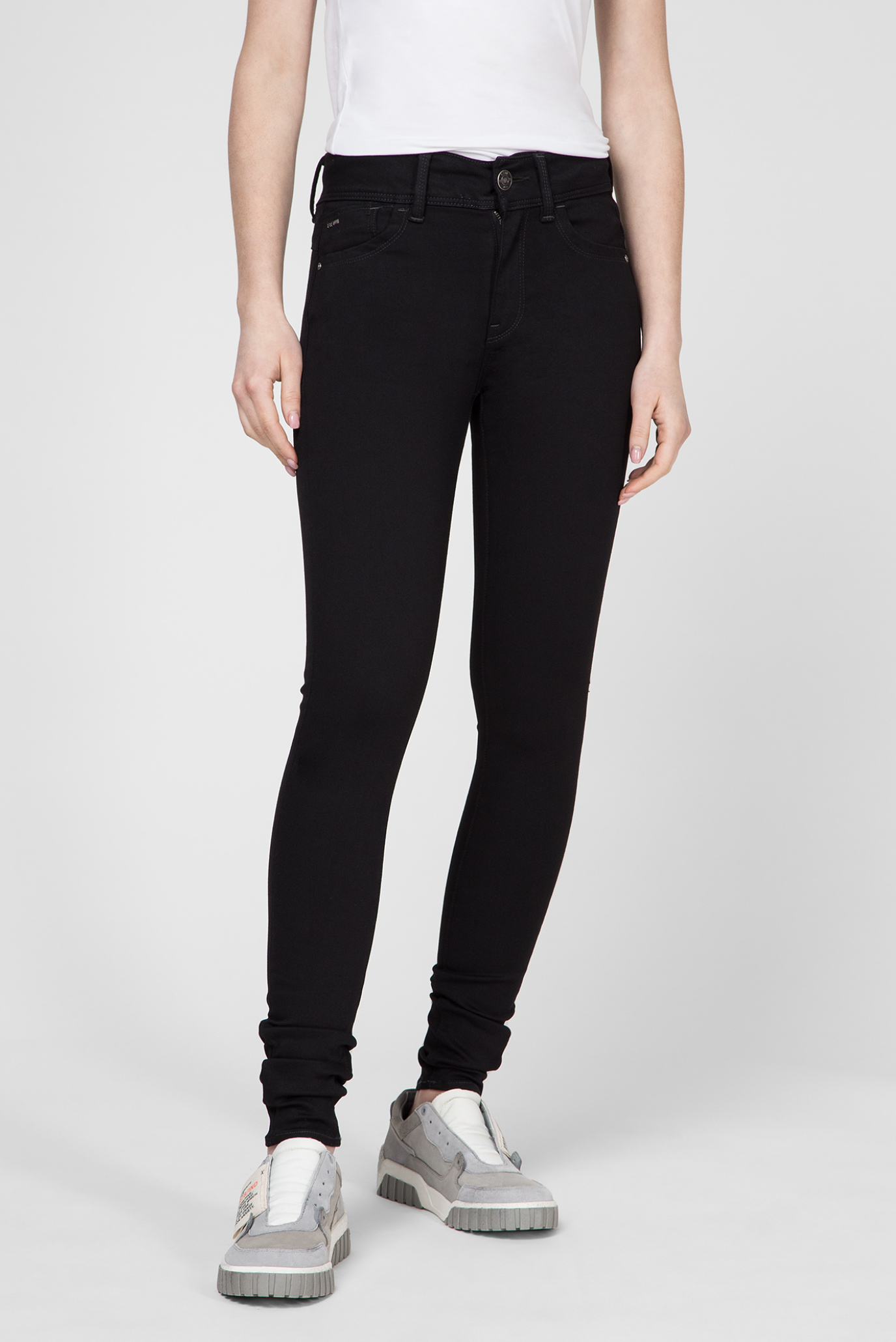 Купить Женские черные джинсы Lynn High Super Skinny G-Star RAW G-Star RAW D14332,9142 – Киев, Украина. Цены в интернет магазине MD Fashion