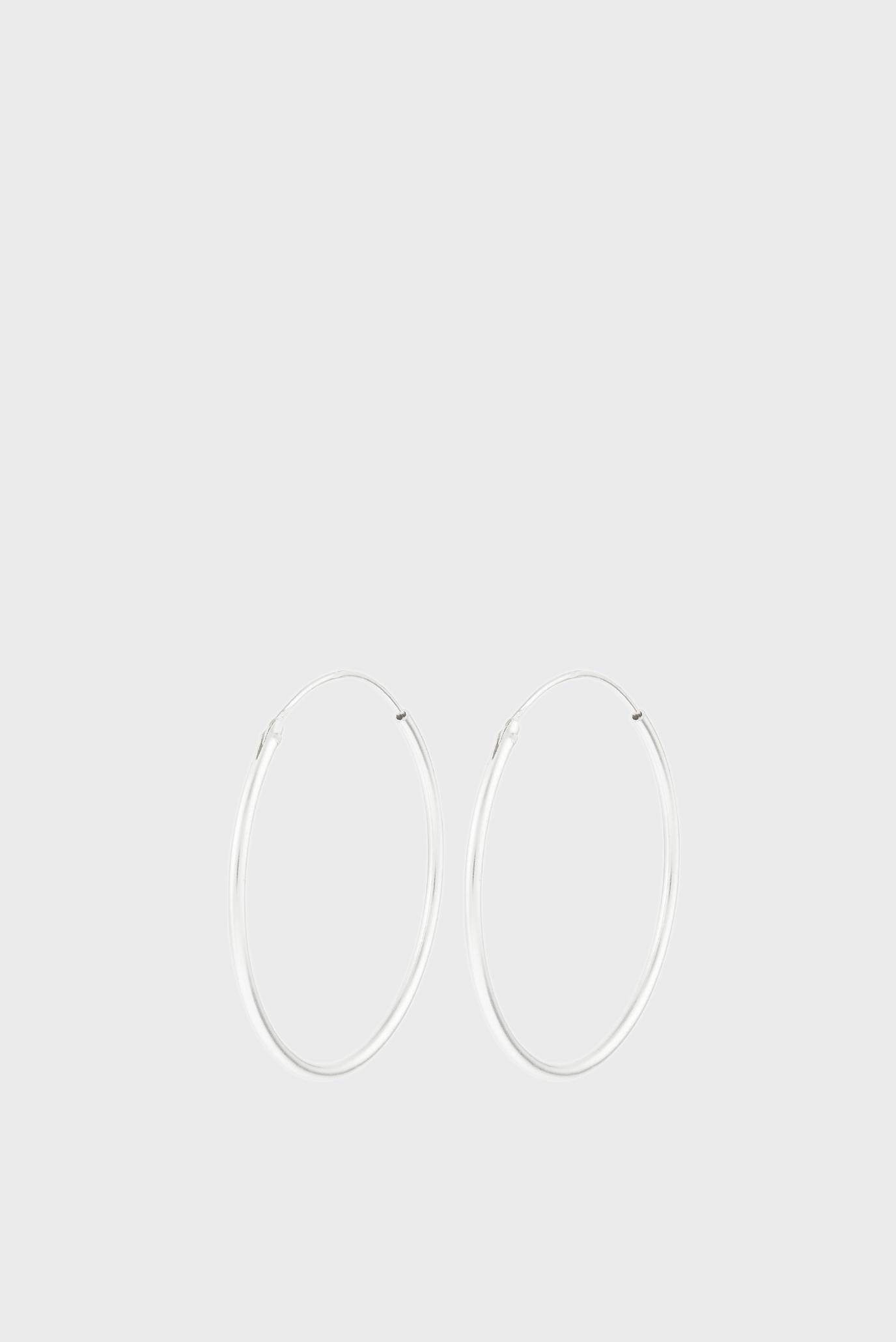 Жіночі срібні сережки MEDIUM SIMPLE HOO 1