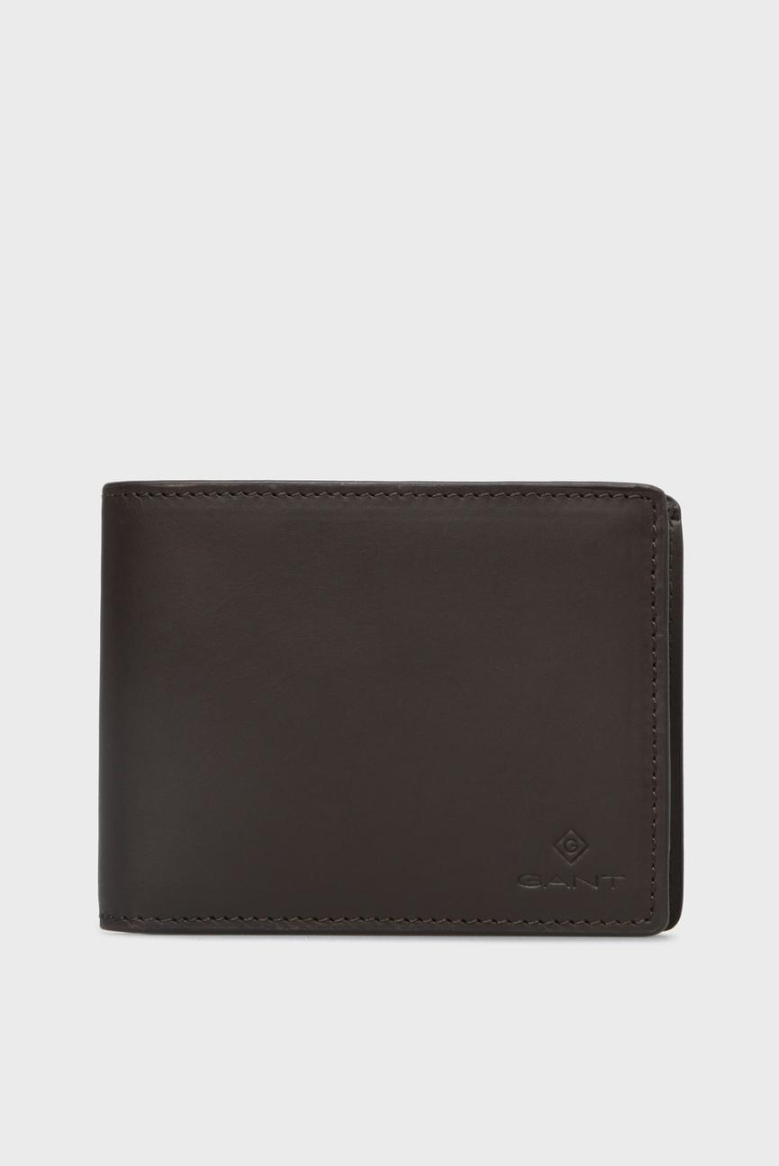 Мужской коричневый кожаный кошелек