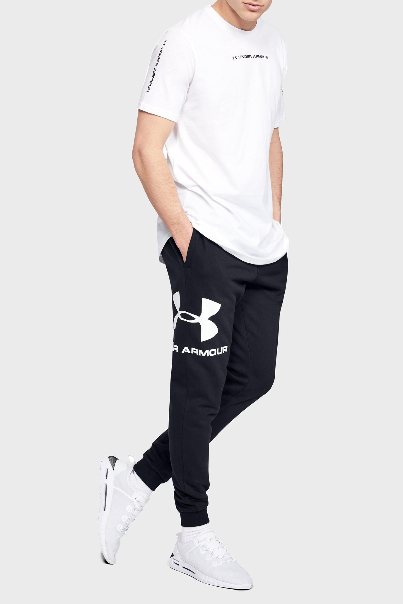 Мужские черные спортивные брюки RIVAL FLEECE SPORTSTYLE LOGO JOGGER Under Armour