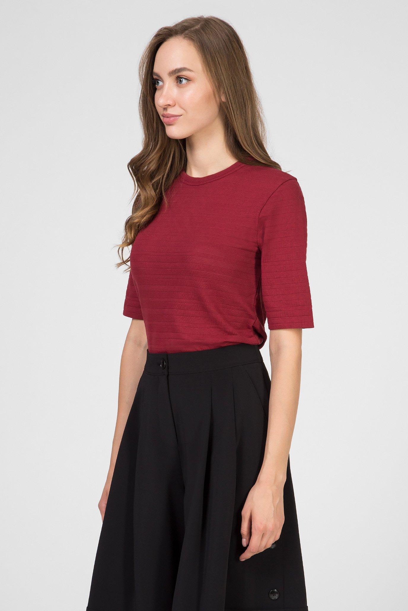 Женская бордовая футболка POINTELLE Calvin Klein