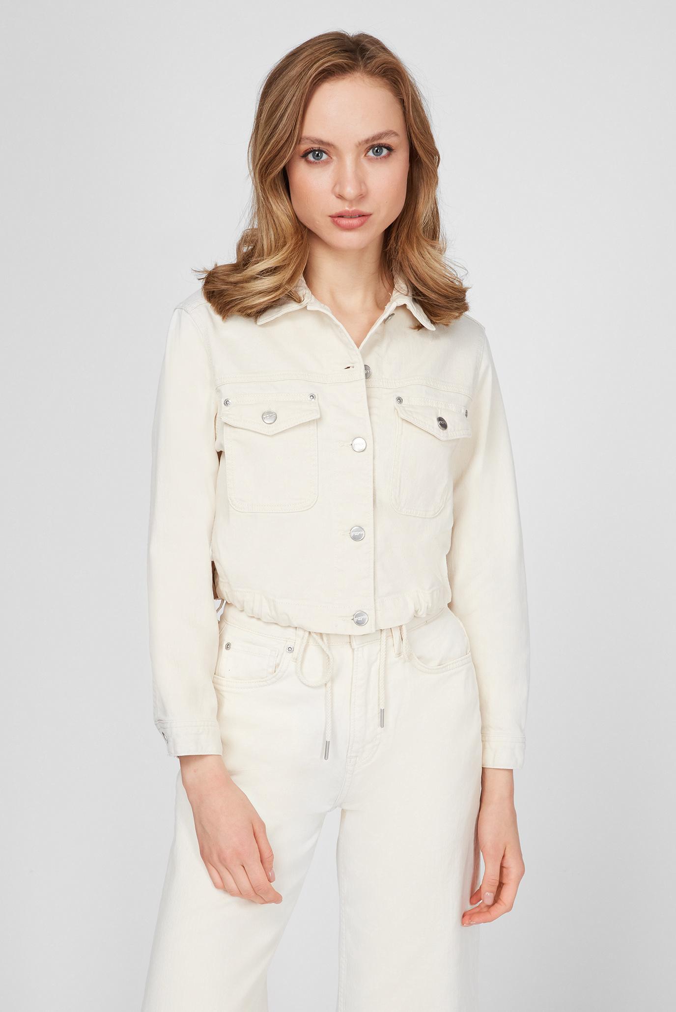 Женская белая джинсовая куртка TIFFANY ROPE 1