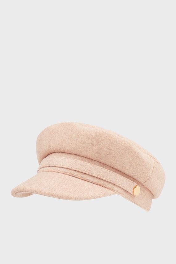 Женское розовое кепи WOOL BAKERBOY
