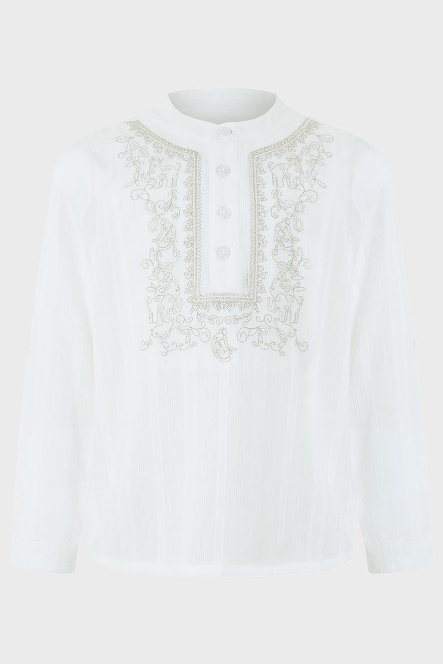 Детская белая рубашка Kiefer Kurta