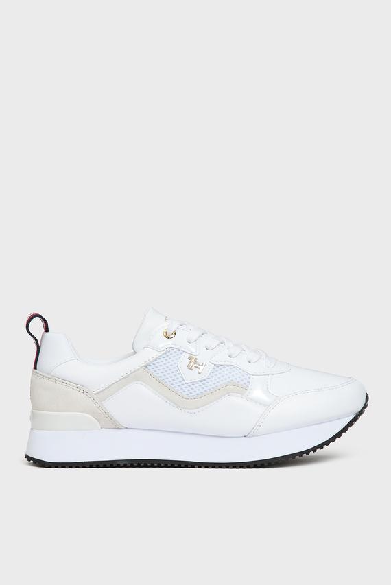 Женские белые кожаные кроссовки TOMMY DRESS CITY