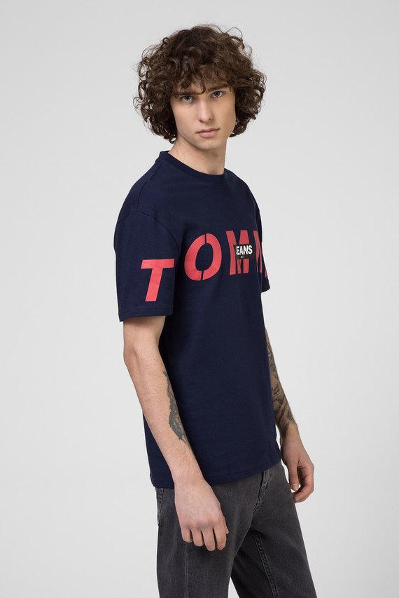 Мужская темно-синяя футболка TJM BOLD