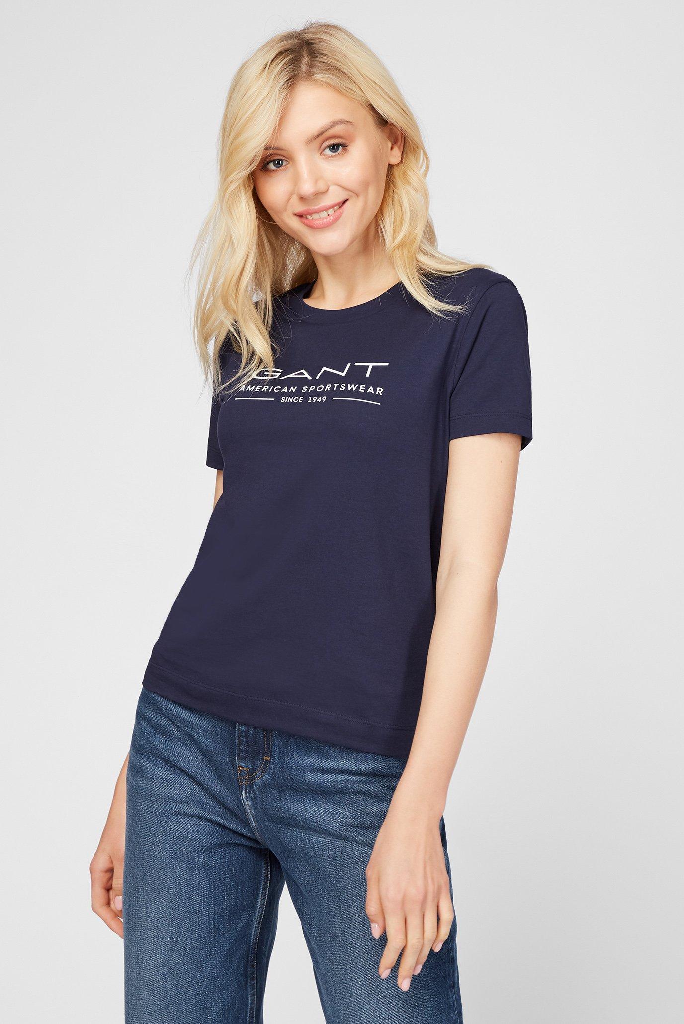 Жіноча темно-синя футболка MD. SUMMER SS 1